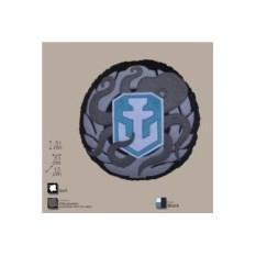 Декоративная круглая подушка c лого игры World of Warships