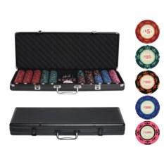 Покерный набор в стальном кейсе на 500 фишек Агент 007
