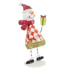 Фигурка Снеговик с подарком