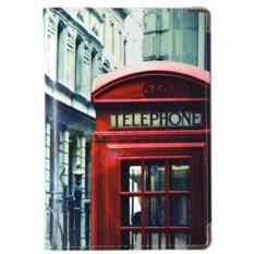 Кожаная обложка на паспорт Лондон