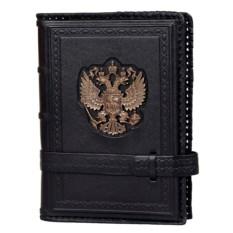 Черный ежедневник Герб России