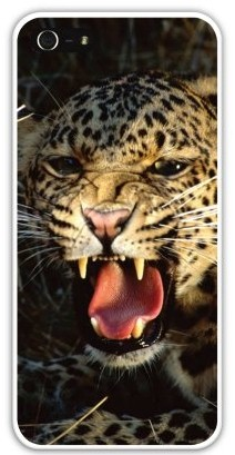 Чехол-накладка для iphone 5/5S, леопард