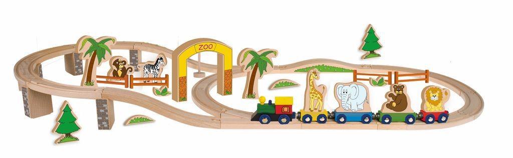Набор Woody Счастливый Паровозик в Зоопарке, 44 элемента