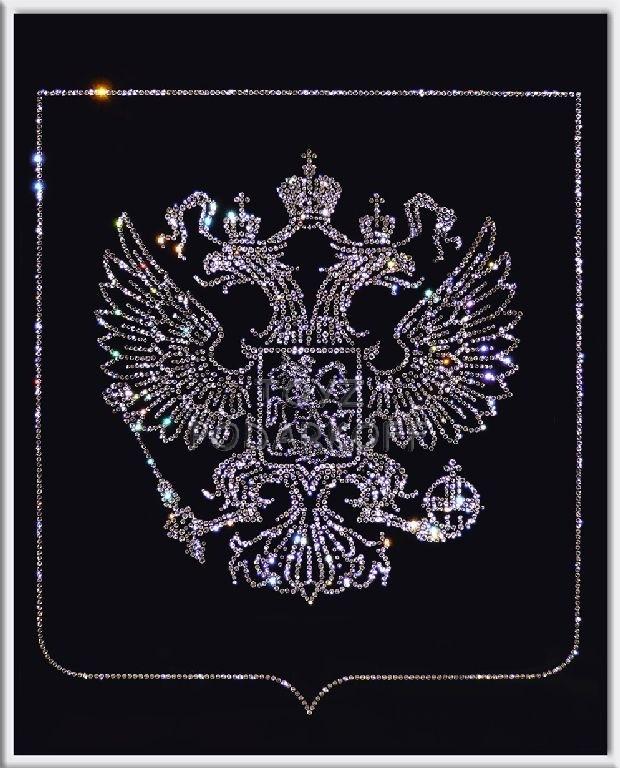 Картина из кристаллов Герб России