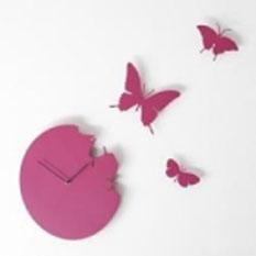 Часы настенные «Бабочки», розовые