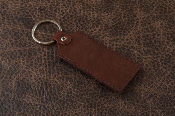 Брелок для ключей. Коллекция GukFactory (Бордовый; тип 3; нат. кожа)