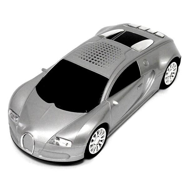Музыкальный центр в виде автомобиля Bugatti серый