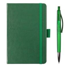Подарочный набор Idea: авторучка и блокнот (цвет — зеленый)