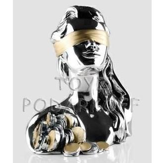 Скульптура Бюст Богини удачи с рогом изобилия