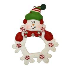 Украшение-подвеска Снеговичок