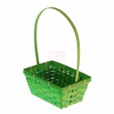 Плетёная корзина Бамбук зеленого цвета