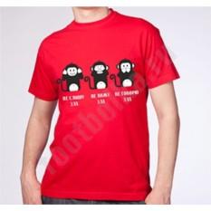 Мужская футболка 3 обезьяны
