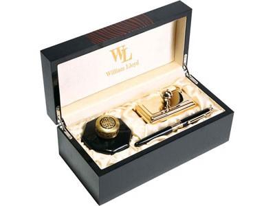 Набор William Lloyd: ручка перьевая, чернильница, блоттер