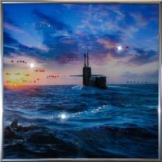 Картина из кристаллов Swarovski Подводная лодка