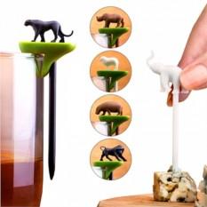 Набор шпажек-маркеров для бокалов Hot animal
