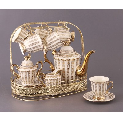 Чайный сервиз на 6 персон на подставке