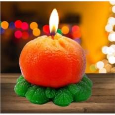 Новогодняя свеча «Мандарин»
