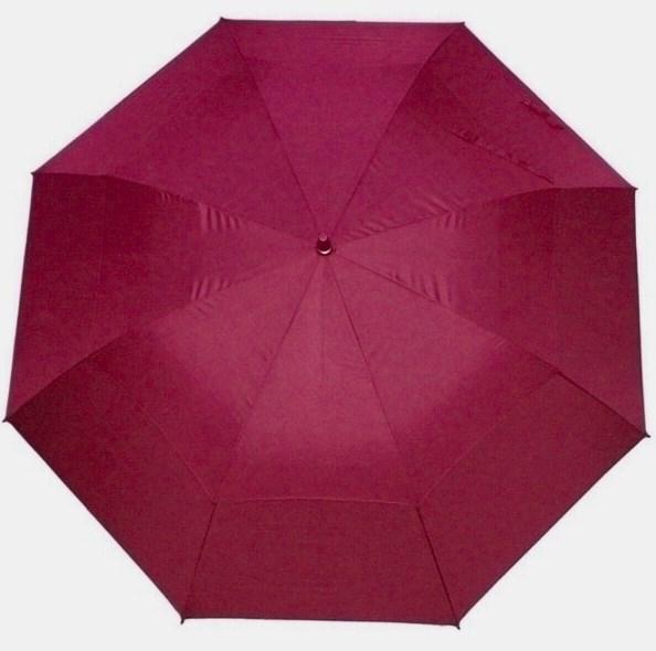 Двойной зонт (цвет – бордовый)