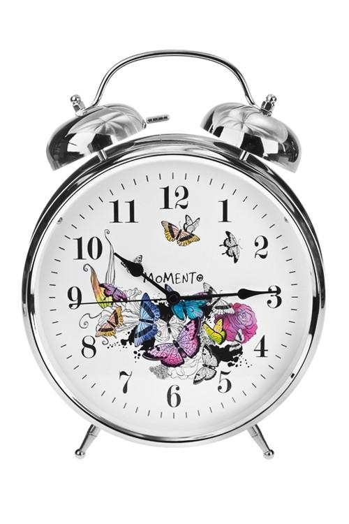 Настольные часы с будильником Парящие бабочки