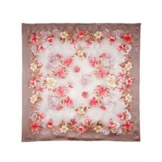 Павлопосадский шелковый платок с рисунком Утренний свет