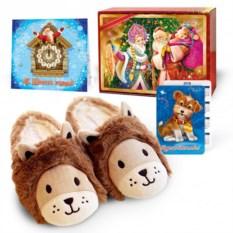 Подарочный набор с тапочками «Львята»