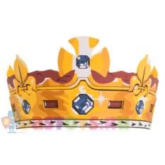 Золотая королевская корона с крестом и лилиями Liontouch