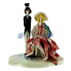 Фарфоровая статуэтка Дама в кресле и кавалер от Zampiva