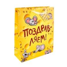 Подарочный пакет Поздравляем сыр