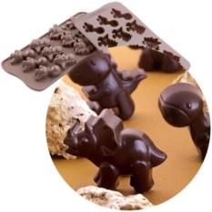 Форма для шоколада «Динозавры» EasyChoc Silikomart