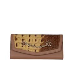 Женский коричневый кошелек из натуральной кожи Leo Ventoni