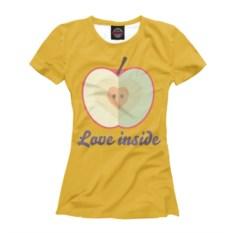 Женская футболка Любовь внутри