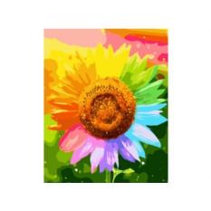 Картины по номерам «Радужный подсолнух»