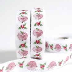 Тесьма декоративная Яблоко-сердце