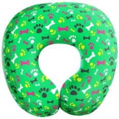 Зеленая дорожная подушка антистресс Гав-Гав