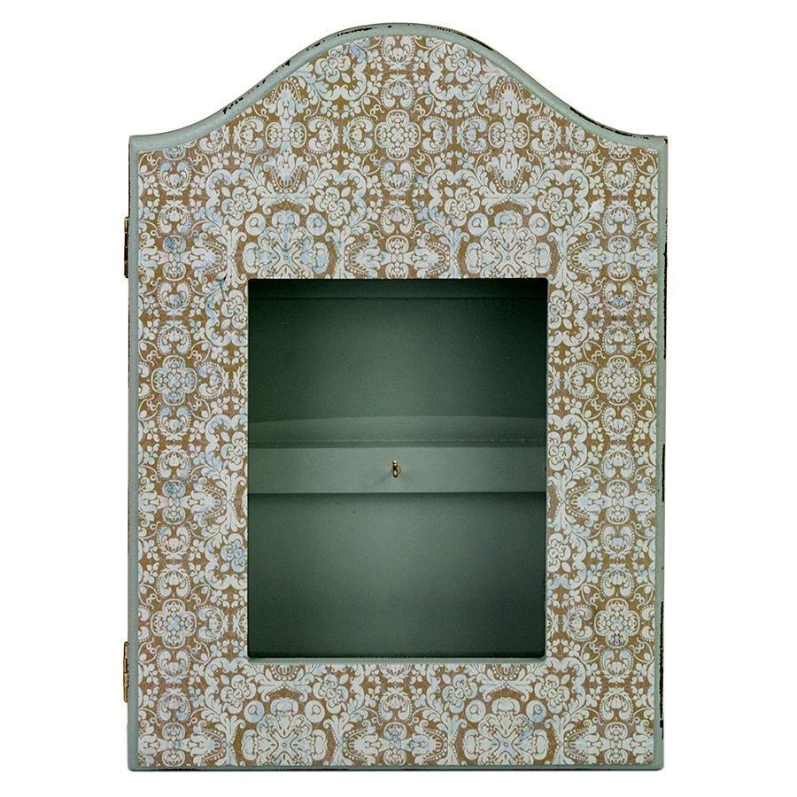 Ключница с узорами, со стеклянной дверцей