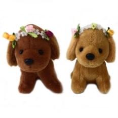 Мягкая игрушка-брелок Собачка с ободком