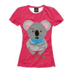 Женская футболка Коала ест эвкалипт