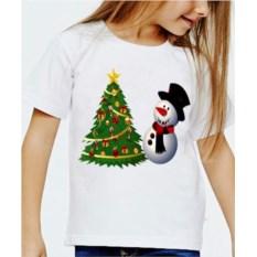 Детская футболка Снеговик и елочка
