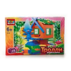 Пластмассовая игрушка-конструктор Домик троллей с фигуркой