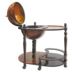 Темный напольный глобус-бар со столиком