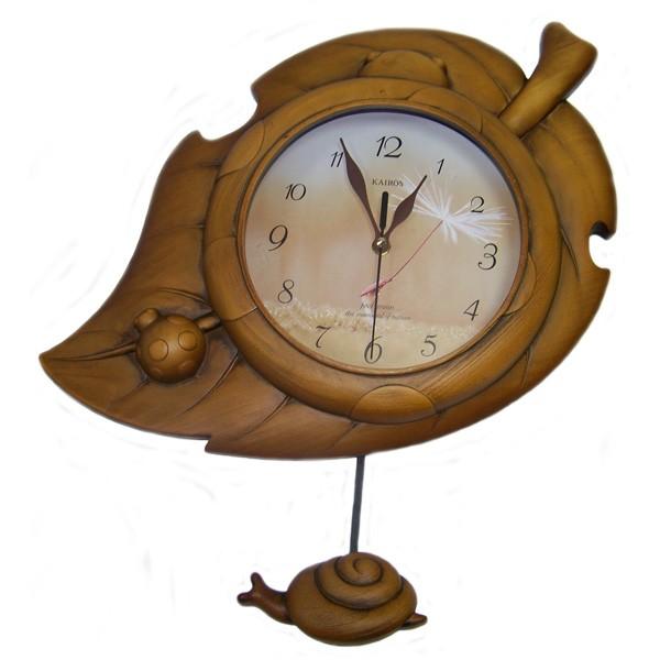 Часы настенные Kairos Лист с улиткой