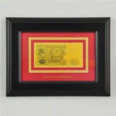 Картина с банкнотой 100 руб. ( СССР) в деревянной раме