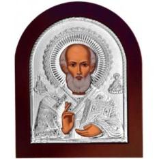 Святой Николай Угодник Чудотворец, икона в серебряном окладе