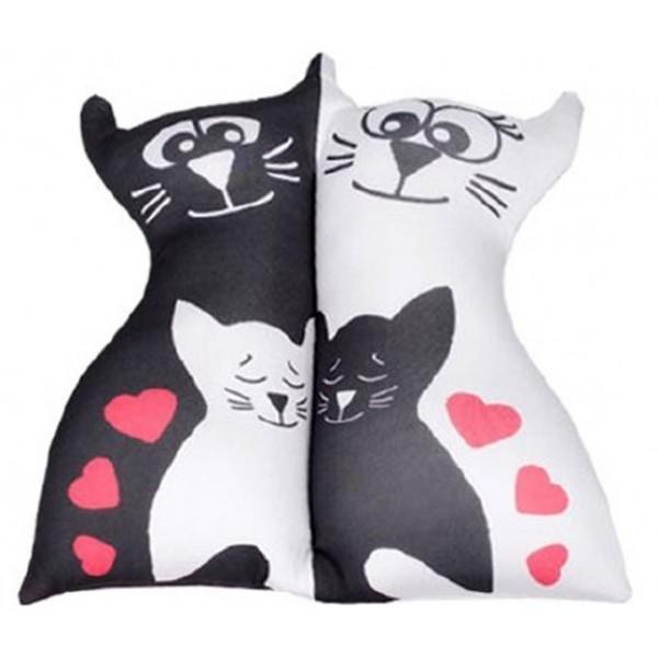 Игрушка антистрессовая Влюбленные кисы (два котенка) белые
