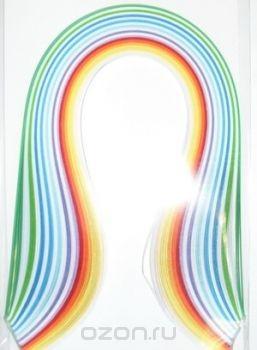 Набор бумаги для квиллинга, цвет: ассорти, 12 цветов, 100 шт