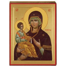 Икона Божьей Матери на доске Троеручица