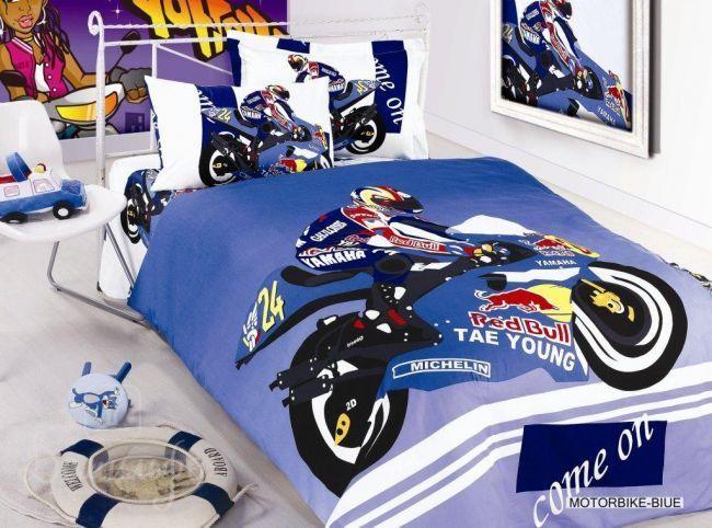 Детское постельное белье Motorbike Blue