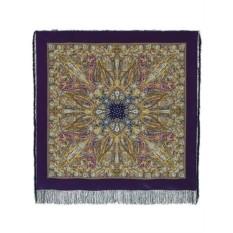 Павлопосадский шелковый платок Жасмин