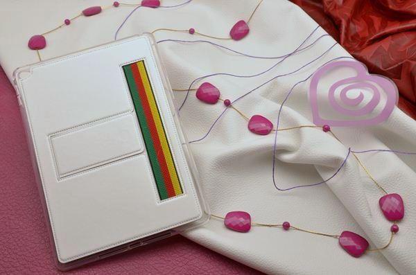 Кожаный чехол для iPad Air 2 «Вива, Флоренция» (белый)