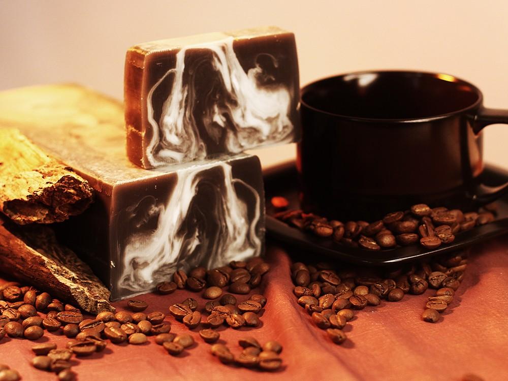 Мыло ручной работы с белой глиной Кофе с молоком